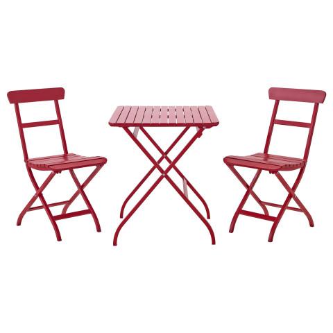 Стол + 2 стула, для сада МЭЛАРО красный артикуль № 390.358.95 в наличии. Online каталог IKEA Республика Беларусь. Быстрая доставка и установка.