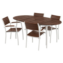Стол + 4 стула с подлокотниками ВИНДАЛЬШЁ белый артикуль № 690.469.82 в наличии. Онлайн сайт IKEA Беларусь. Быстрая доставка и установка.