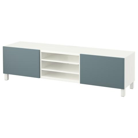Тумба для ТВ с ящиками БЕСТО белый артикуль № 491.333.86 в наличии. Онлайн магазин IKEA РБ. Недорогая доставка и установка.