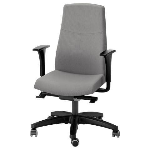 Вращающееся легкое кресло ВОЛЬМАР серый артикуль № 591.380.67 в наличии. Online каталог ИКЕА РБ. Недорогая доставка и установка.