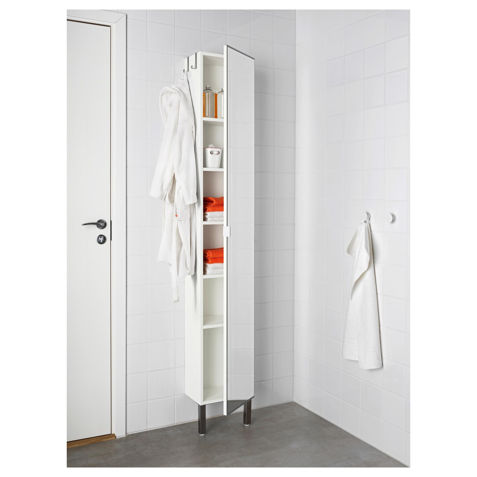 Лиллонген, высокий шкаф с зеркальной дверцей в шатуре.