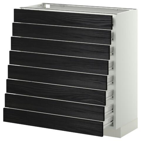 Напольный шкаф 8 фронтальных, 8 низких ящиков МЕТОД / ФОРВАРА белый артикуль № 299.122.01 в наличии. Онлайн магазин IKEA РБ. Недорогая доставка и установка.