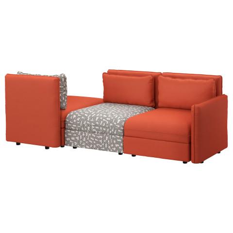 3-местный диван-кровать ВАЛЛЕНТУНА оранжевый артикуль № 391.630.67 в наличии. Интернет сайт ИКЕА Минск. Недорогая доставка и соборка.