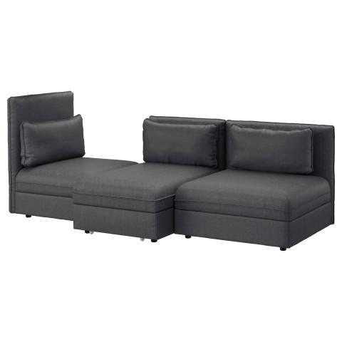 3-местный диван-кровать ВАЛЛЕНТУНА темно-серый артикуль № 691.498.62 в наличии. Online каталог IKEA Беларусь. Недорогая доставка и установка.
