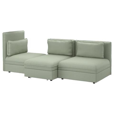 3-местный диван-кровать ВАЛЛЕНТУНА зеленый артикуль № 791.497.72 в наличии. Онлайн каталог IKEA Республика Беларусь. Недорогая доставка и установка.