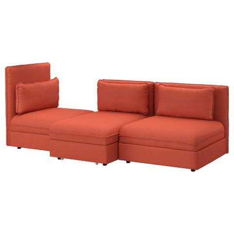 3-местный диван-кровать ВАЛЛЕНТУНА оранжевый артикуль № 891.621.74 в наличии. Онлайн каталог ИКЕА Минск. Недорогая доставка и соборка.