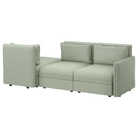 3-местный диван-кровать ВАЛЛЕНТУНА зеленый артикуль № 991.625.88 в наличии. Онлайн каталог ИКЕА РБ. Недорогая доставка и установка.