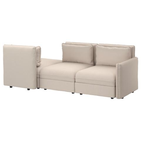 3-местный диван ВАЛЛЕНТУНА бежевый артикуль № 691.623.54 в наличии. Интернет сайт IKEA Беларусь. Быстрая доставка и монтаж.