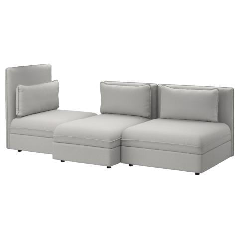 3-местный диван ВАЛЛЕНТУНА светло-серый артикуль № 891.496.44 в наличии. Online магазин IKEA Минск. Недорогая доставка и монтаж.