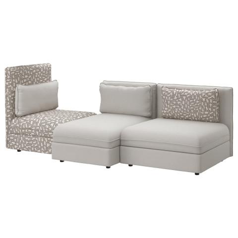 3-местный диван ВАЛЛЕНТУНА черный/бежевый артикуль № 891.613.96 в наличии. Онлайн каталог IKEA Минск. Быстрая доставка и монтаж.