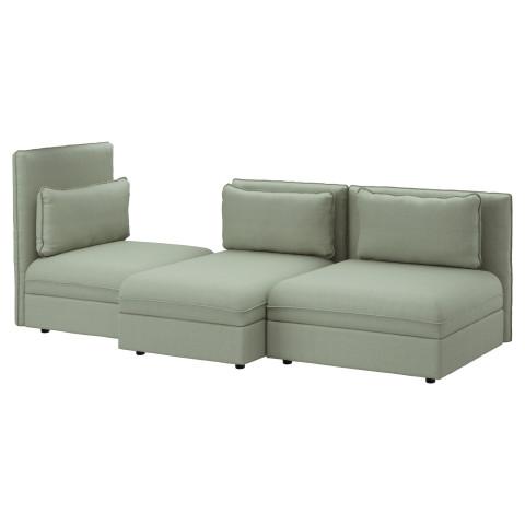 3-местный диван ВАЛЛЕНТУНА зеленый артикуль № 991.497.66 в наличии. Онлайн сайт IKEA РБ. Недорогая доставка и соборка.