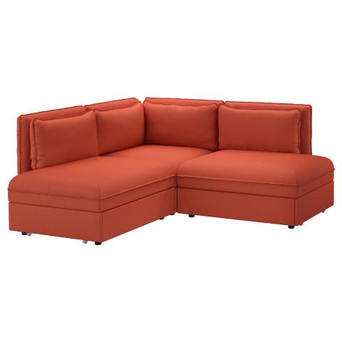 3-местный угловой диван-кровать ВАЛЛЕНТУНА оранжевый артикуль № 991.621.35 в наличии. Интернет каталог IKEA Беларусь. Недорогая доставка и установка.
