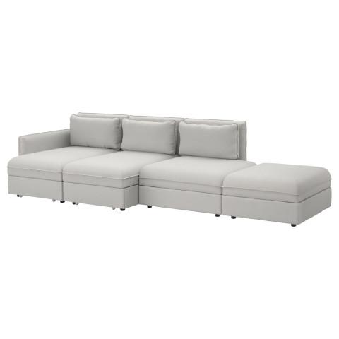 4-местный диван-кровать ВАЛЛЕНТУНА светло-серый артикуль № 691.496.35 в наличии. Online сайт ИКЕА РБ. Недорогая доставка и установка.