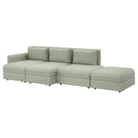 4-местный диван-кровать ВАЛЛЕНТУНА зеленый артикуль № 891.497.57 в наличии. Интернет сайт ИКЕА Минск. Быстрая доставка и монтаж.