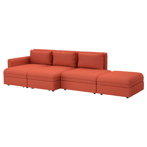 4-местный диван-кровать ВАЛЛЕНТУНА оранжевый артикуль № 891.622.11 в наличии. Online магазин ИКЕА РБ. Быстрая доставка и соборка.