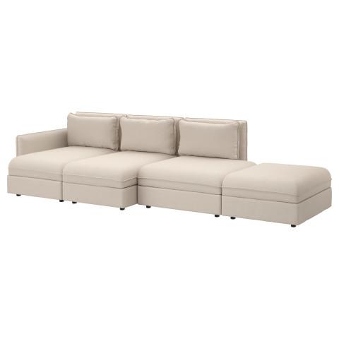 4-местный диван ВАЛЛЕНТУНА бежевый артикуль № 091.443.15 в наличии. Онлайн каталог IKEA РБ. Недорогая доставка и соборка.