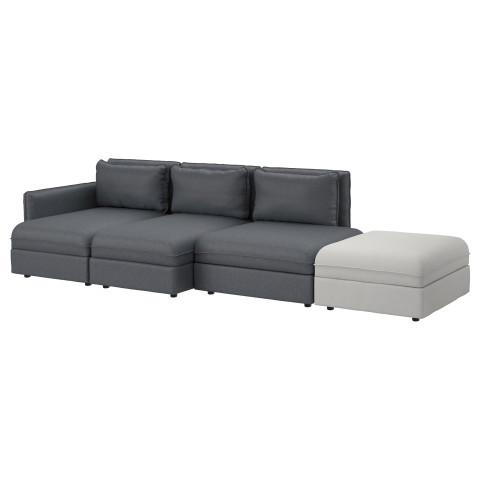 4-местный диван ВАЛЛЕНТУНА темно-серый артикуль № 191.613.85 в наличии. Онлайн сайт IKEA Республика Беларусь. Быстрая доставка и соборка.