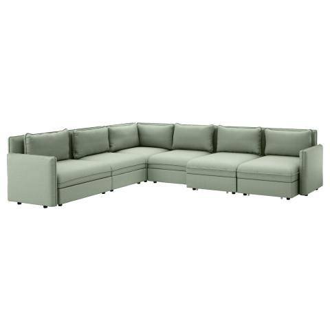 6-местный диван-кровать ВАЛЛЕНТУНА зеленый артикуль № 791.572.34 в наличии. Онлайн магазин IKEA Минск. Недорогая доставка и установка.