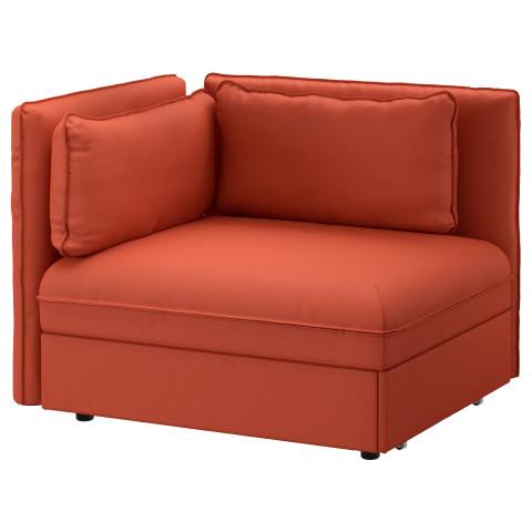 Секция дивана-кровати со спинкой ВАЛЛЕНТУНА оранжевый артикуль № 891.621.26 в наличии. Интернет сайт ИКЕА Республика Беларусь. Недорогая доставка и установка.