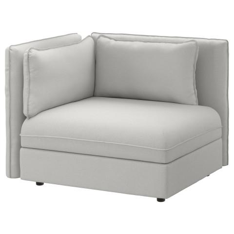 Секция дивана со спинкой ВАЛЛЕНТУНА светло-серый артикуль № 491.496.60 в наличии. Онлайн магазин IKEA РБ. Быстрая доставка и соборка.