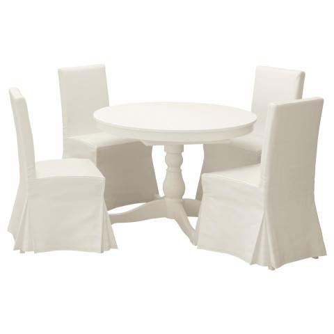 Стол и 4 стула ИНГАТОРП / ХЕНРИКСДАЛЬ белый артикуль № 091.615.69 в наличии. Онлайн каталог IKEA РБ. Недорогая доставка и соборка.
