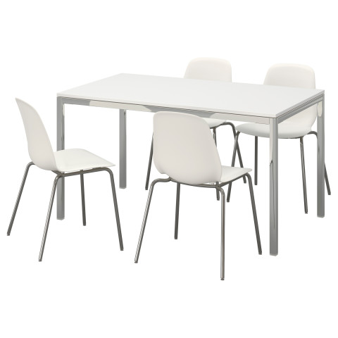 Стол и 4 стула ТОРСБИ / ЛЕЙФ-АРНЕ белый артикуль № 791.615.61 в наличии. Интернет магазин IKEA Минск. Недорогая доставка и монтаж.