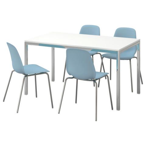 Стол и 4 стула ТОРСБИ / ЛЕЙФ-АРНЕ белый артикуль № 991.615.60 в наличии. Online магазин IKEA Минск. Недорогая доставка и соборка.