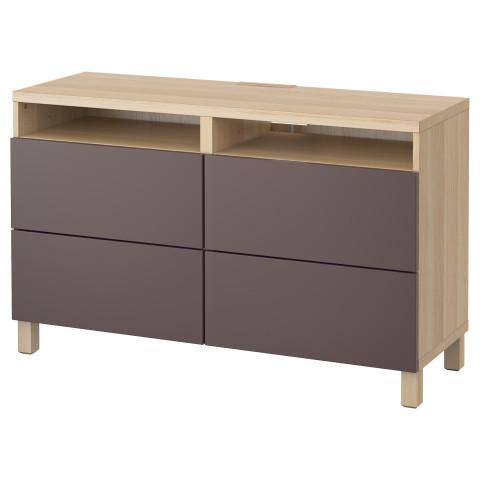 Тумба для ТВ с ящиками БЕСТО темно-коричневый артикуль № 291.364.04 в наличии. Онлайн сайт IKEA Минск. Быстрая доставка и монтаж.