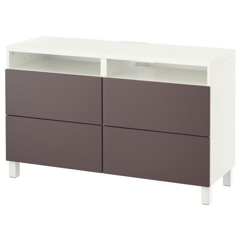 Тумба для ТВ с ящиками БЕСТО темно-коричневый артикуль № 691.364.16 в наличии. Online сайт IKEA РБ. Недорогая доставка и установка.