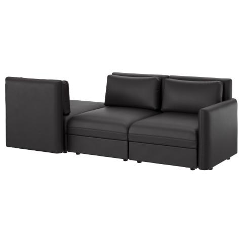 3-местный диван ВАЛЛЕНТУНА черный артикуль № 191.626.05 в наличии. Онлайн каталог IKEA Минск. Быстрая доставка и монтаж.