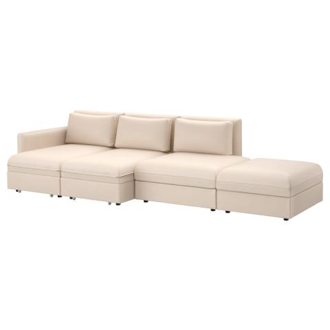 4-местный диван-кровать ВАЛЛЕНТУНА бежевый артикуль № 191.495.10 в наличии. Online магазин IKEA Минск. Недорогая доставка и установка.