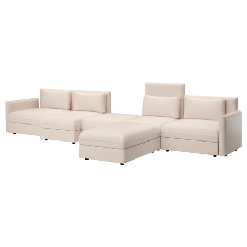 5-местный диван ВАЛЛЕНТУНА бежевый артикуль № 391.495.33 в наличии. Online магазин IKEA РБ. Недорогая доставка и соборка.