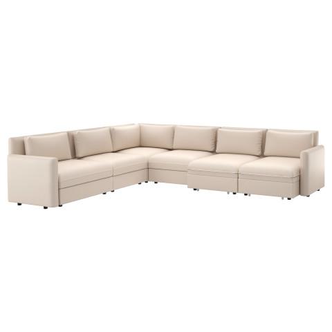 6-местный диван-кровать ВАЛЛЕНТУНА бежевый артикуль № 891.572.38 в наличии. Online каталог IKEA РБ. Недорогая доставка и установка.