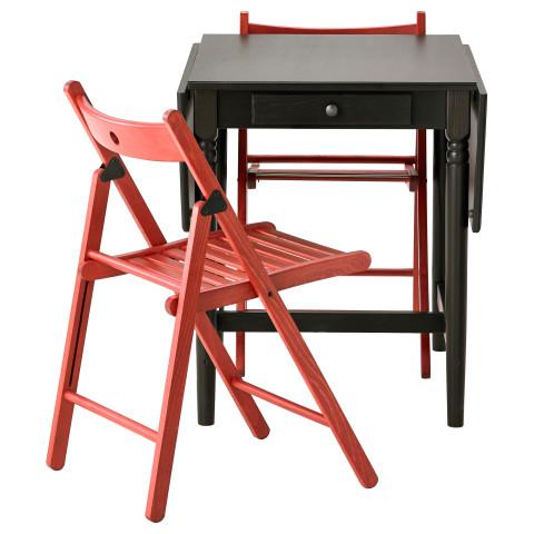 Стол и 2 стула ИНГАТОРП / ТЕРЬЕ красный артикуль № 999.320.45 в наличии. Интернет сайт ИКЕА Беларусь. Недорогая доставка и монтаж.