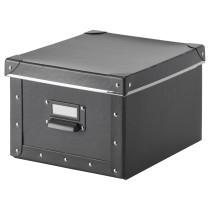 Коробка с крышкой ФЬЕЛЛА темно-серый артикуль № 803.382.53 в наличии. Online сайт IKEA Минск. Быстрая доставка и установка.