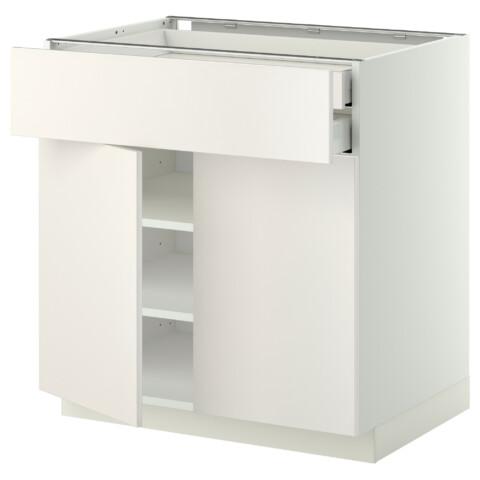Напольный шкаф, 2 дверцы, 2 ящика МЕТОД / МАКСИМЕРА белый артикуль № 991.093.60 в наличии. Online каталог IKEA РБ. Быстрая доставка и соборка.