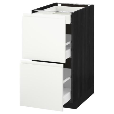 Напольный шкаф, 2 фасада, 3 ящика МЕТОД / МАКСИМЕРА черный артикуль № 091.308.27 в наличии. Интернет сайт IKEA РБ. Недорогая доставка и монтаж.
