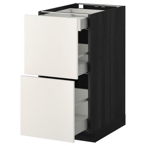 Напольный шкаф, 2 фасада, 3 ящика МЕТОД / МАКСИМЕРА черный артикуль № 191.095.71 в наличии. Online сайт IKEA РБ. Быстрая доставка и монтаж.