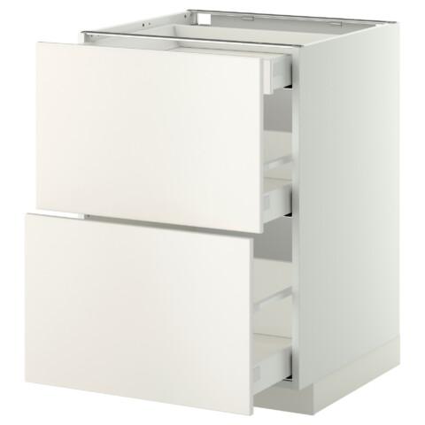 Напольный шкаф, 2 фасада, 3 ящика МЕТОД / МАКСИМЕРА белый артикуль № 191.096.32 в наличии. Интернет сайт IKEA Беларусь. Быстрая доставка и соборка.