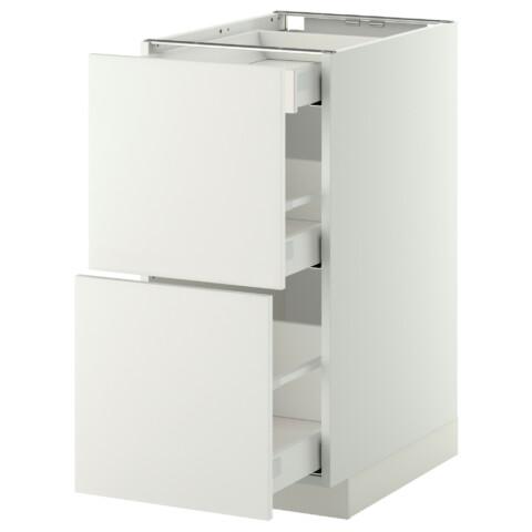 Напольный шкаф, 2 фасада, 3 ящика МЕТОД / МАКСИМЕРА белый артикуль № 291.095.75 в наличии. Интернет магазин IKEA РБ. Быстрая доставка и установка.