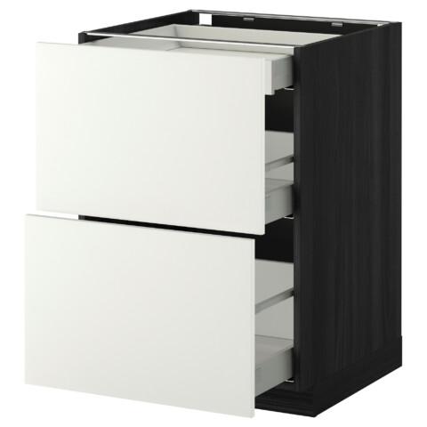 Напольный шкаф, 2 фасада, 3 ящика МЕТОД / МАКСИМЕРА белый артикуль № 491.095.98 в наличии. Online каталог IKEA РБ. Недорогая доставка и установка.