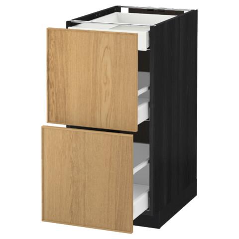 Напольный шкаф, 2 фасада, 3 ящика МЕТОД / МАКСИМЕРА черный артикуль № 991.097.51 в наличии. Интернет каталог IKEA РБ. Недорогая доставка и установка.