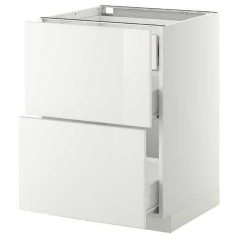 Напольный шкаф 2 фронтальные панели, 3 средняя ящик МЕТОД / ФОРВАРА белый артикуль № 099.115.61 в наличии. Интернет сайт IKEA Минск. Быстрая доставка и установка.