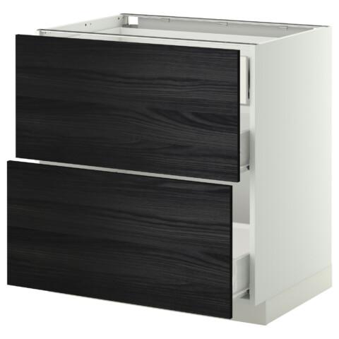 Напольный шкаф 2 фронтальные панели, 3 средняя ящик МЕТОД / ФОРВАРА белый артикуль № 299.121.59 в наличии. Онлайн магазин IKEA Минск. Недорогая доставка и установка.