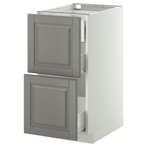 Напольный шкаф 2 фронтальные панели, 3 средняя ящик МЕТОД / ФОРВАРА белый артикуль № 499.138.55 в наличии. Интернет сайт IKEA Минск. Быстрая доставка и соборка.