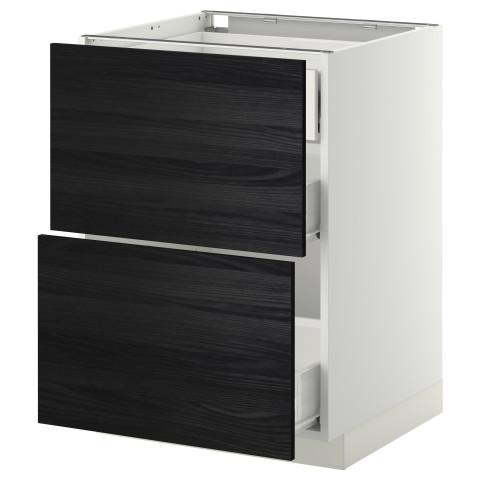Напольный шкаф 2 фронтальные панели, 3 средняя ящик МЕТОД / ФОРВАРА белый артикуль № 699.121.57 в наличии. Интернет магазин IKEA РБ. Недорогая доставка и установка.