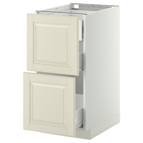 Напольный шкаф 2 фронтальные панели, 3 средняя ящик МЕТОД / ФОРВАРА белый артикуль № 699.132.32 в наличии. Онлайн магазин IKEA РБ. Быстрая доставка и установка.