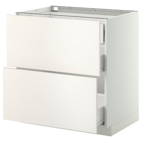 Напольный шкаф 2 фронтальные панели, 3 средняя ящик МЕТОД / ФОРВАРА белый артикуль № 799.157.73 в наличии. Интернет сайт IKEA РБ. Недорогая доставка и монтаж.