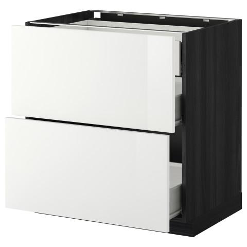 Напольный шкаф 2 фронтальные панели, 3 средняя ящик МЕТОД / ФОРВАРА белый артикуль № 899.115.62 в наличии. Онлайн магазин IKEA Беларусь. Недорогая доставка и установка.
