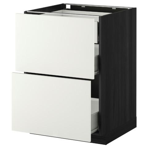 Напольный шкаф 2 фронтальные панели, 3 средняя ящик МЕТОД / ФОРВАРА белый артикуль № 899.125.52 в наличии. Онлайн каталог IKEA Минск. Быстрая доставка и монтаж.
